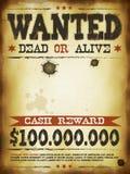 Chcieć rocznika westernu plakat ilustracja wektor