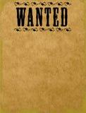 chcieć pusty plakat Obrazy Royalty Free