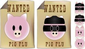 chcieć szyldowe grypa chlewnie Zdjęcia Royalty Free