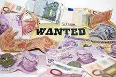 chcieli pieniędzy ekonomicznego kryzysu Zdjęcia Royalty Free