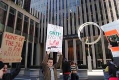 Chciwość, Marzec dla Nasz żyć, Przechodzi prawo, protest, NYC, NY, usa Zdjęcie Royalty Free