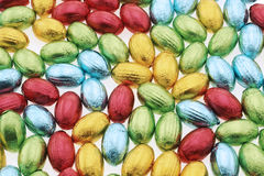 Chcoclate easter eggs Background Royalty Free Stock Images