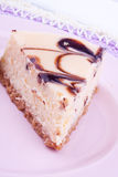 Chcocolate cheesecake stock images