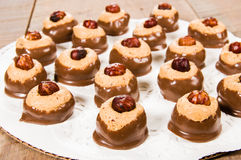 Chcolate арахисового масла окунуло конфету Стоковое Фото