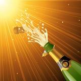 Chełbotanie szampan Zdjęcie Stock
