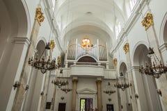 Chełmski, POLSKA, Maj - 7, 2016: Wśrodku świątyni bazylika Fotografia Royalty Free