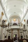 Chełmski, POLSKA, Maj - 7, 2016: Wśrodku świątyni bazylika Fotografia Stock