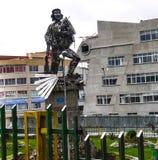 Che纪念碑在拉巴斯市,玻利维亚 库存照片