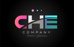 CHE c h e three letter logo icon design Stock Images