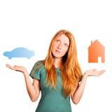 Che casa da scegliere? fotografie stock libere da diritti