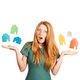 Che casa da scegliere? immagine stock
