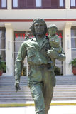 Che and child statue in Santa Clara, Cuba. By far the most interesting homage to Che was this understated statue of Che y el nino (Che and child) outside a royalty free stock image