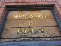 Che cosa è il passato è prolog Fotografia Stock Libera da Diritti