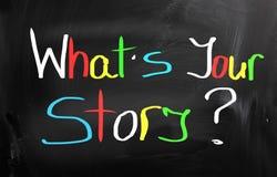 Che cosa è il vostro concetto di storia Immagine Stock Libera da Diritti