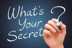 Che cosa è il vostro segreto Immagini Stock Libere da Diritti