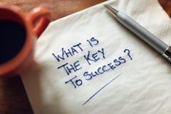 Che cosa è la chiave a successo Immagini Stock