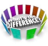 Che cosa è la differenza molte opzioni confrontando le idee alternative fanno Immagini Stock