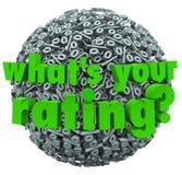 Che cosa è la vostra percentuale di valutazione del punteggio del segno di percentuali Fotografia Stock
