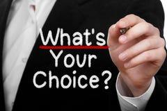 Che cosa è la vostra scelta Fotografia Stock Libera da Diritti