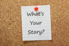Che cosa è la vostra storia? Fotografie Stock Libere da Diritti