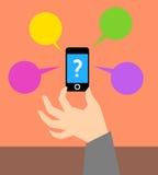 Che cosa è telefono cellulare Fotografia Stock