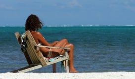 Che cosa circa nuoto? - Belize Fotografia Stock