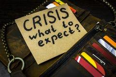 Che cosa da attendersi dall'economia in tempo della crisi Fotografia Stock Libera da Diritti