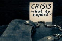 Che cosa da attendersi dall'economia in tempo della crisi Immagini Stock