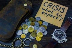 Che cosa da attendersi dall'economia in tempo della crisi Fotografia Stock