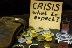 Che cosa da attendersi dall'economia in tempo della crisi Immagine Stock Libera da Diritti