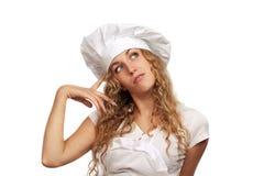 Che cosa da cucinare? Fotografia Stock Libera da Diritti