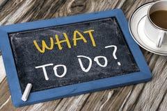 Che cosa da fare? Fotografia Stock