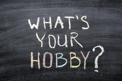 Che cosa il vostro hobby immagini stock