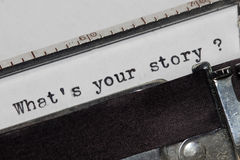 Che cosa è la vostra storia Immagine Stock Libera da Diritti