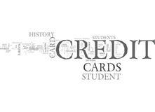 Che cosa mette uno studente Credit Card Apart dall'altra nuvola di parola delle carte di credito Immagine Stock Libera da Diritti