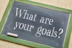 Che cosa sono i vostri scopi? fotografia stock