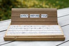 Che cosa vi ispira? Fotografia Stock
