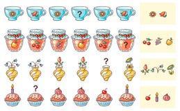 Che cosa viene gioco dopo della corrispondenza per i bambini in età prescolare royalty illustrazione gratis