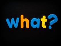 Che domanda Fotografie Stock