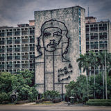 Che Guevara bild på Plaza de la Revolucion Arkivfoto