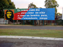 Che Guevara Billboard, Havana Cuba Royalty Free Stock Photos