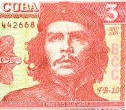 Che Guevara cédula de três pesos Fotos de Stock Royalty Free