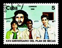 Che Guevara, estudiantes, programa de la beca, 25to ser del aniversario Foto de archivo libre de regalías