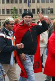 Che Guevara fan at union demonstration Royalty Free Stock Photography
