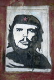 Che Guevara Graffiti portrait on the facade wall in Livorno,Italy Stock Photo