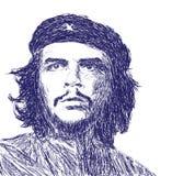 Che Guevara Hand Drawn Scratch-Porträt Stockfotografie