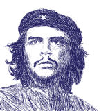 Che Guevara Hand Drawn Scratch Portrait Stock Photography