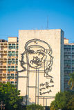 Che Guevara image in front of Revolution square, Havana Royalty Free Stock Image