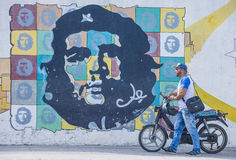 Che Guevara malowidło ścienne obrazy stock
