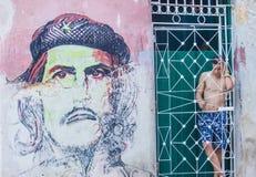 Che Guevara malowidło ścienne zdjęcie stock